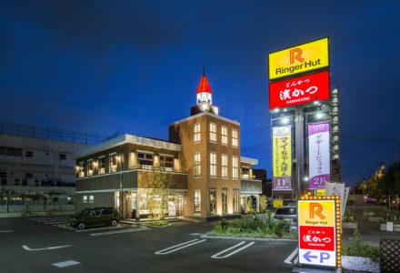 リンガーハット・濱かつ 葛飾新宿店 外観(夜)